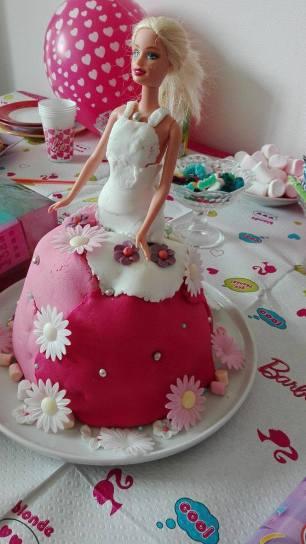 Le gâteau Barbie