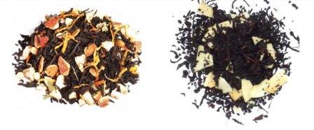 thé noir mandarine/pamplemousse et kiwi thé noix noix de coco