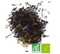 thé noir fruit de la passion/papaye/mangue/rose/bleuet et soucis