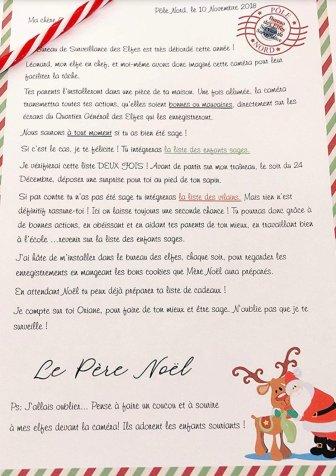 """Une lettre fournit avec une """"caméra du Père Noël"""""""