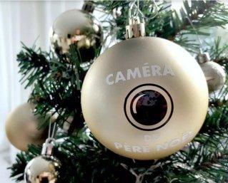 """Boule de Noël """"caméra du Père Noël"""""""